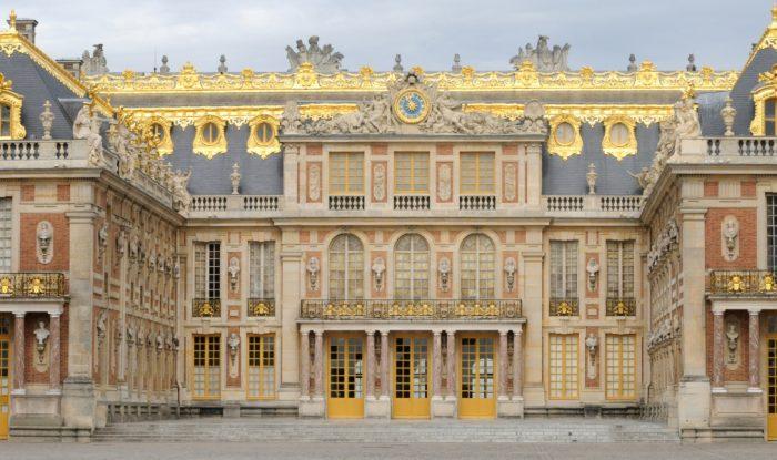 the facade of Versailles Palace in Ile de France